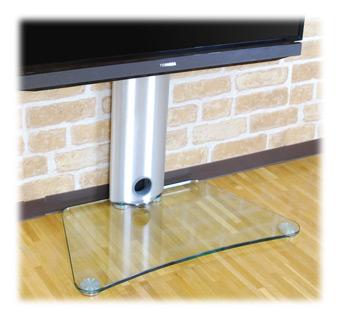 光沢の強化ガラス製台座