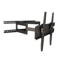 【32〜55型対応】汎用テレビ壁掛け金具 下向左右角度調節ダブルアーム - PLB-ACE-147M