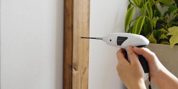 手順5.取り付ける場合の下穴と取り付けネジの寸法