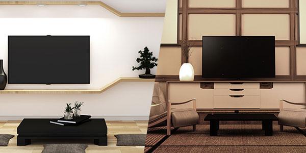 壁掛けテレビはインテリア性抜群