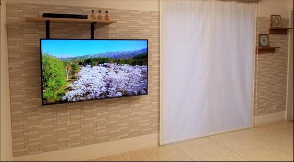 関東テレビ壁掛け工事代行 施工事例