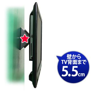 壁から5.5cm